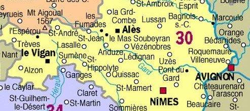 Histoire du Gard dans Gard carte-du-gard