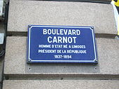A l'assassinat du Président S.CARNOT dans Côte d'Or carnot