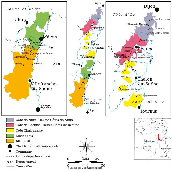 Les vignobles de Bourgogne dans Bourgogne vignobles