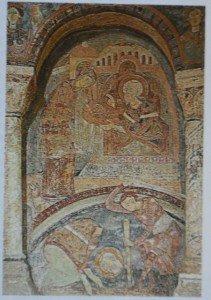 L'art cistercien de Bourgogne dans Bourgogne berze-fresque-211x300