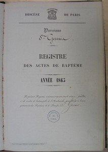 Enregistrement des familles françaises du 16 au 19ème siècle dans AUX SIECLES DERNIERS registre-213x300