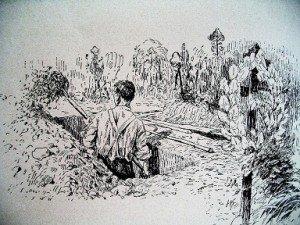 Le jardinier de cimetière dans ARTISANAT FRANCAIS enterrer-300x225