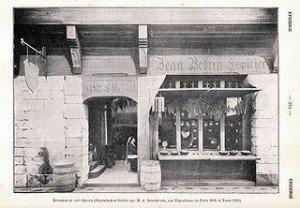 Les Epiciers d'autrefois dans ARTISANAT FRANCAIS epicerie-1900-300x208