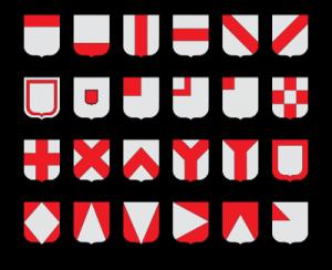 Les pièces honorables héraldiques dans AUX SIECLES DERNIERS pieces-honorables-300x244