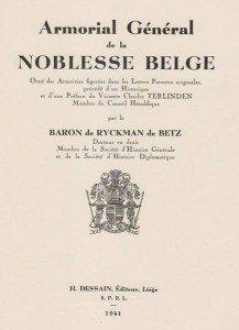 Recherches héraldiques en Belgique dans AUX SIECLES DERNIERS noblesse-217x300