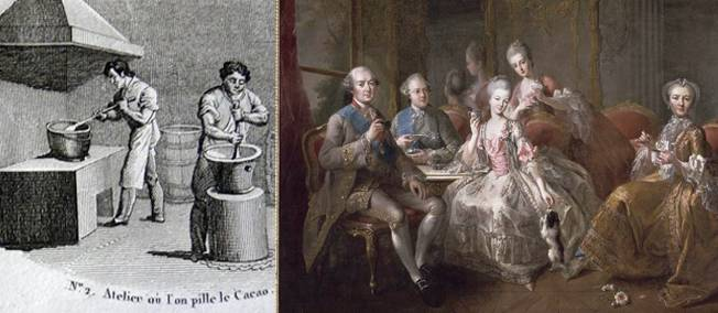 Louis XIV et le chocolat dans AUX SIECLES DERNIERS chocolat
