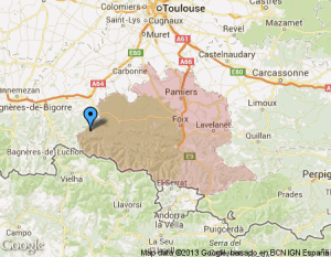 La Guerre des Demoiselles du 19ème dans Ariège staticmap-300x233