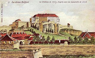Belfort, entre Jura et Vosges dans Jura 320px-belfort_en_1750_aquarelle_de_1818