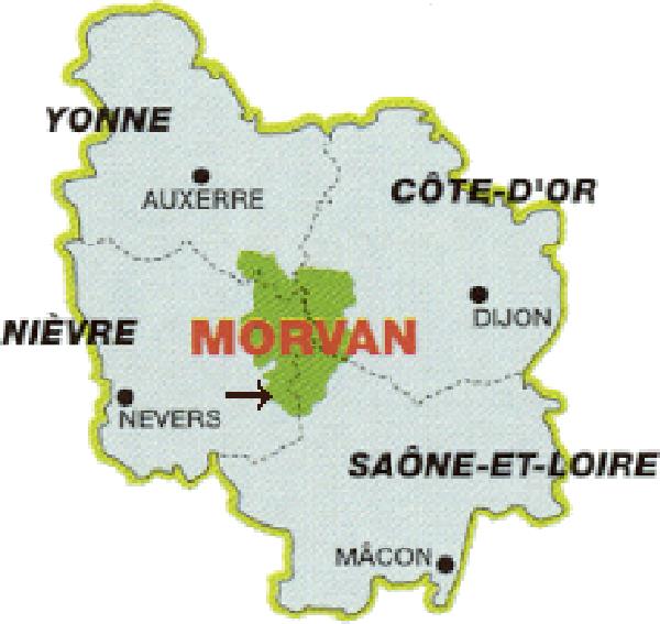Carte Morvan France | tonaartsenfotografie