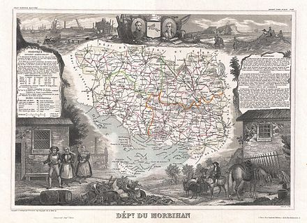 440px-1852_Levasseur_Map_of_the_Department_Du_Morbihan,_France_-_Geographicus_-_Morbihan-levasseur-1852